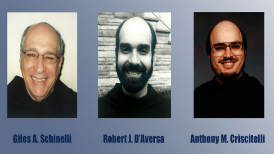 Giles A. Schinelli, Robert J. D'Aversa and Anthony M. Criscitelli were charged with conspiracy and child endangerment for allowing a friar who was a known sexual predator to continue working with children. Office Of The Pennsylvania Attorney General
