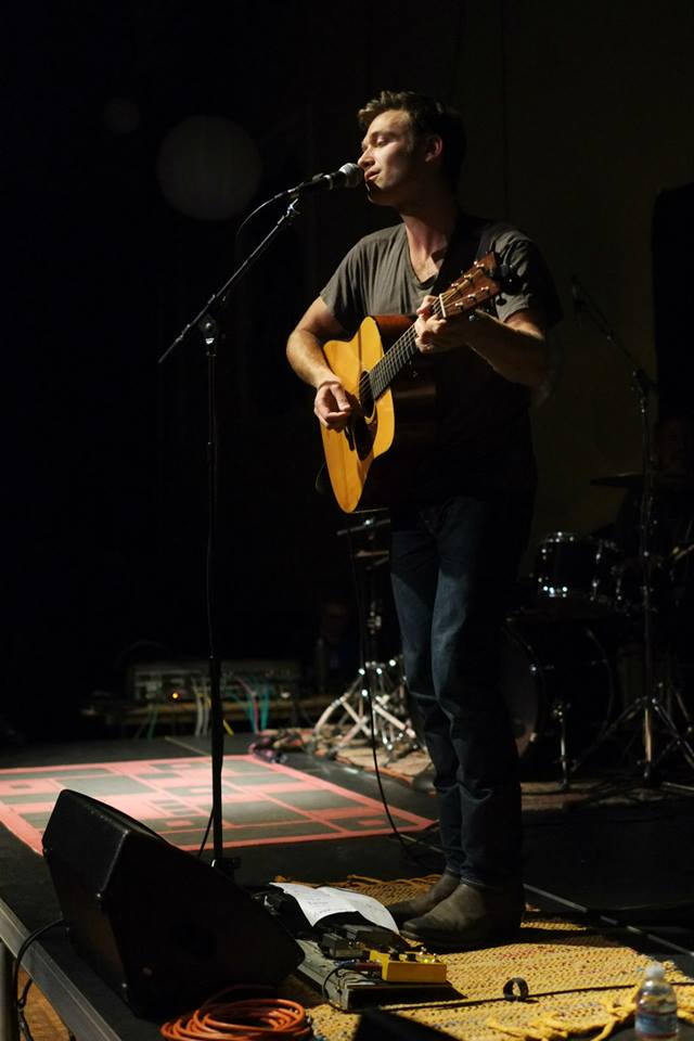 Dan Kirkwood performing at the Juneau Arts and Culture Center during the Summer Shakedown during 2015 (photo by Annie Bartholomew/KTOO.)