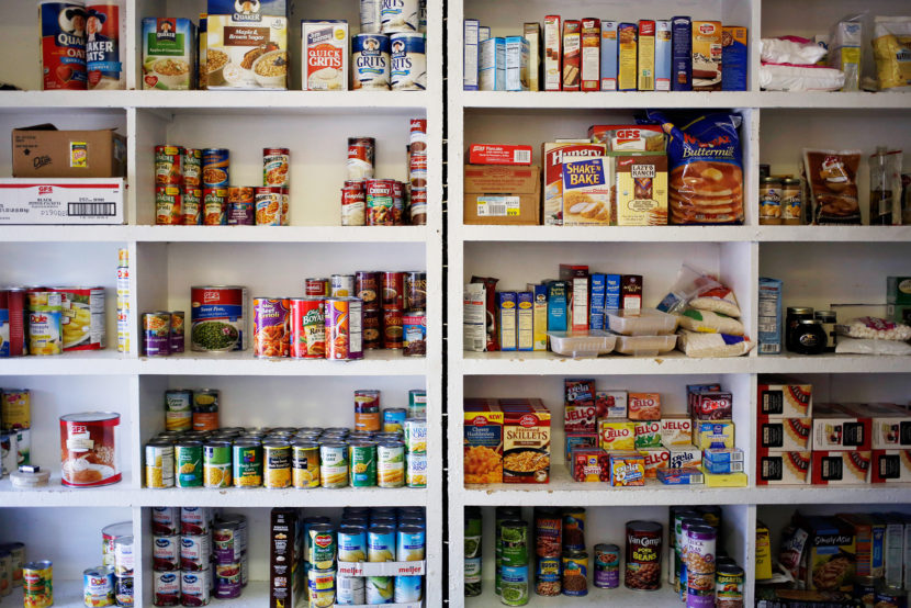 Nearly one-third of households on SNAP, formerly known as food stamps, still have to visit a food pantry to keep themselves fed, according to USDA data. (Luke Sharrett/Bloomberg via Getty Images)