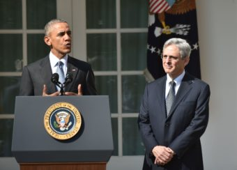 President Obama introduces Merrick Garland as his Supreme Court nominee Wednesday at the White House. Garland, 63, is currently chief judge of the U.S. Court of Appeals for the District of Columbia Circuit. Nicholas Kamm/AFP/Getty Images