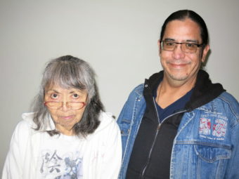 Paulina Phillips and her son Stich Phillips. (StoryCorps photo)