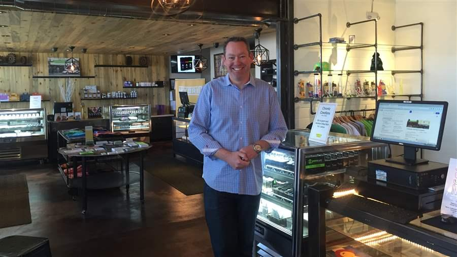 Tim Cullen, founder of Colorado Harvest Company, has had trouble keeping a bank account for his marijuana business. Pew Charitable Trusts