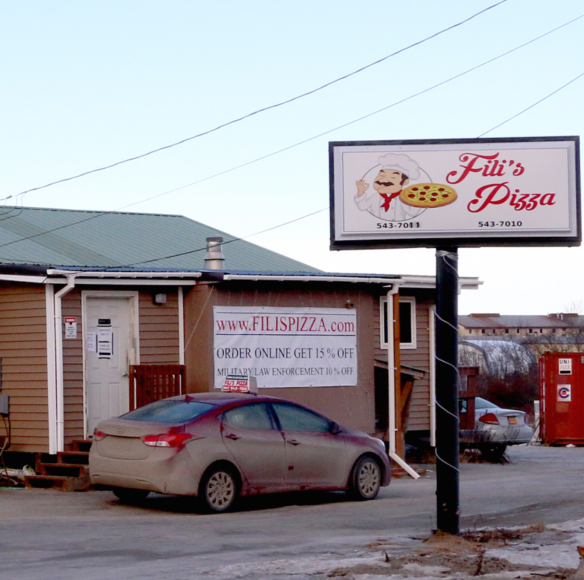 Fili's Pizza. (Photo by Dean Swope/KYUK)