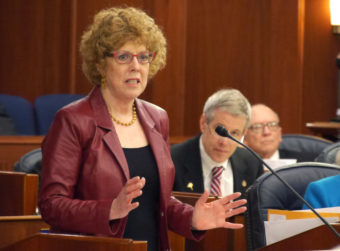 Rep. Gabrielle LeDoux, R-Anchorage, wraps up debate on House Bil