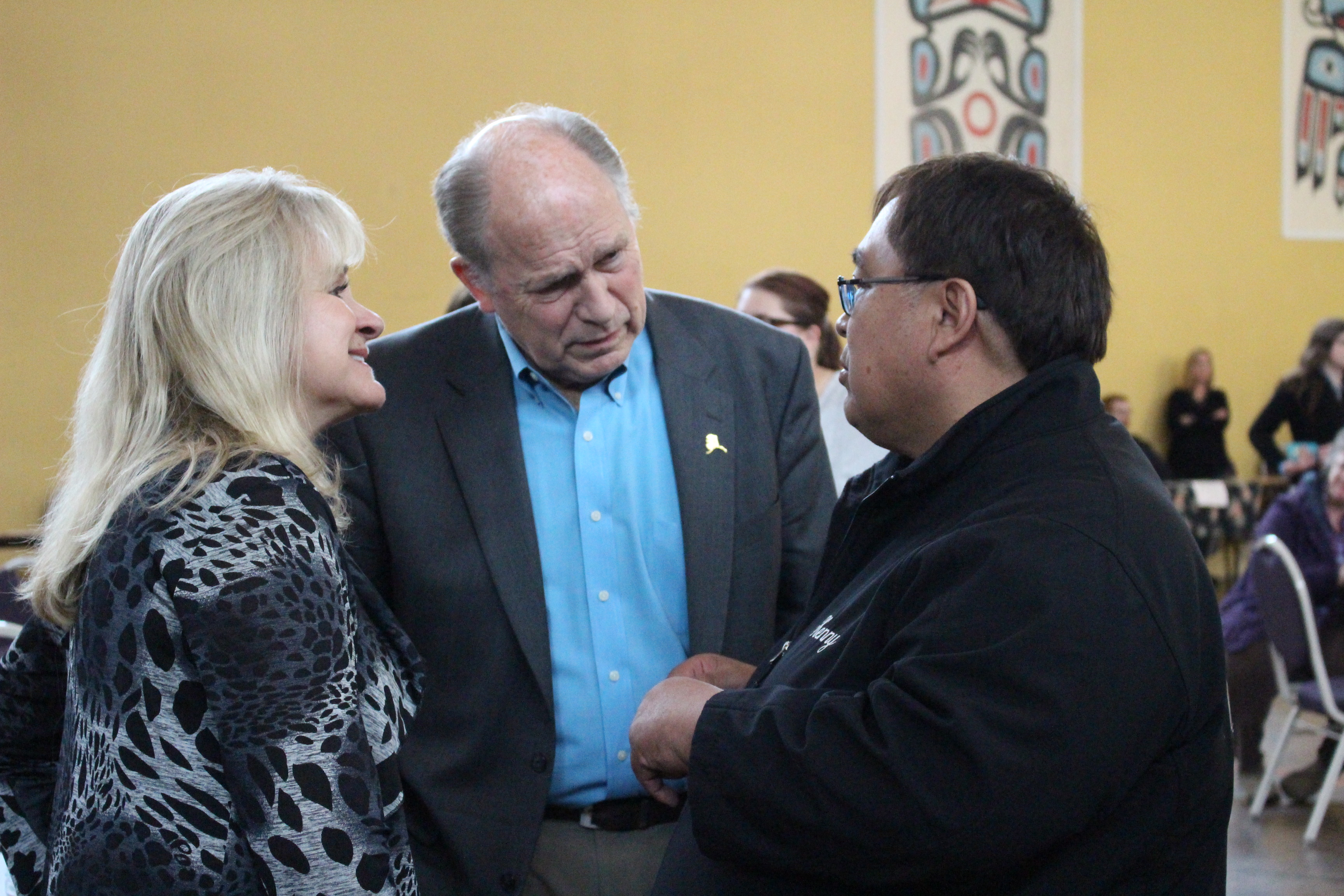 The governor and first lady Donna Walker talk to people at Hope, Not Heroin. (Photo by Elizabeth Jenkins/KTOO)