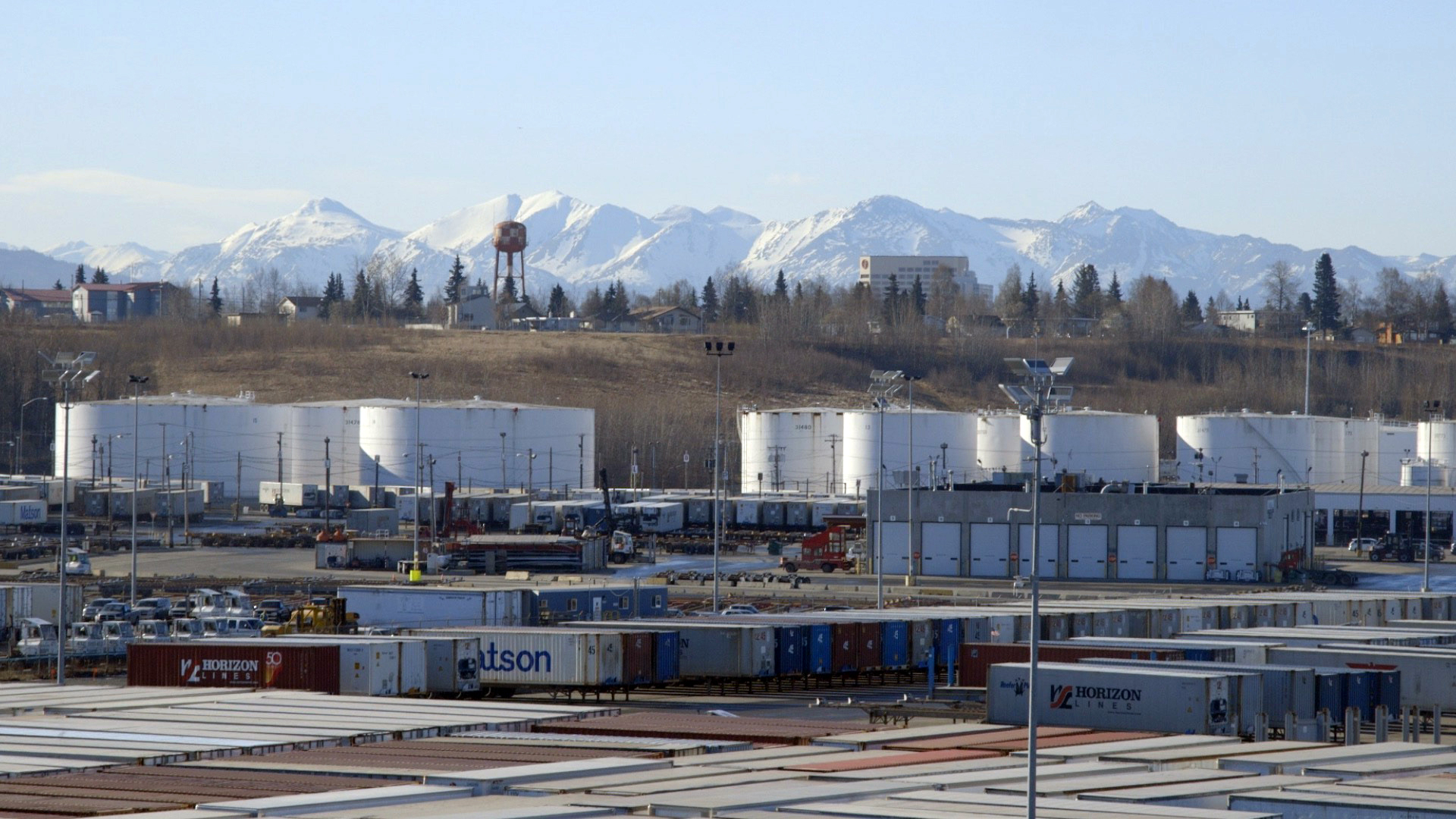 cargo yard at Port of Anchorage