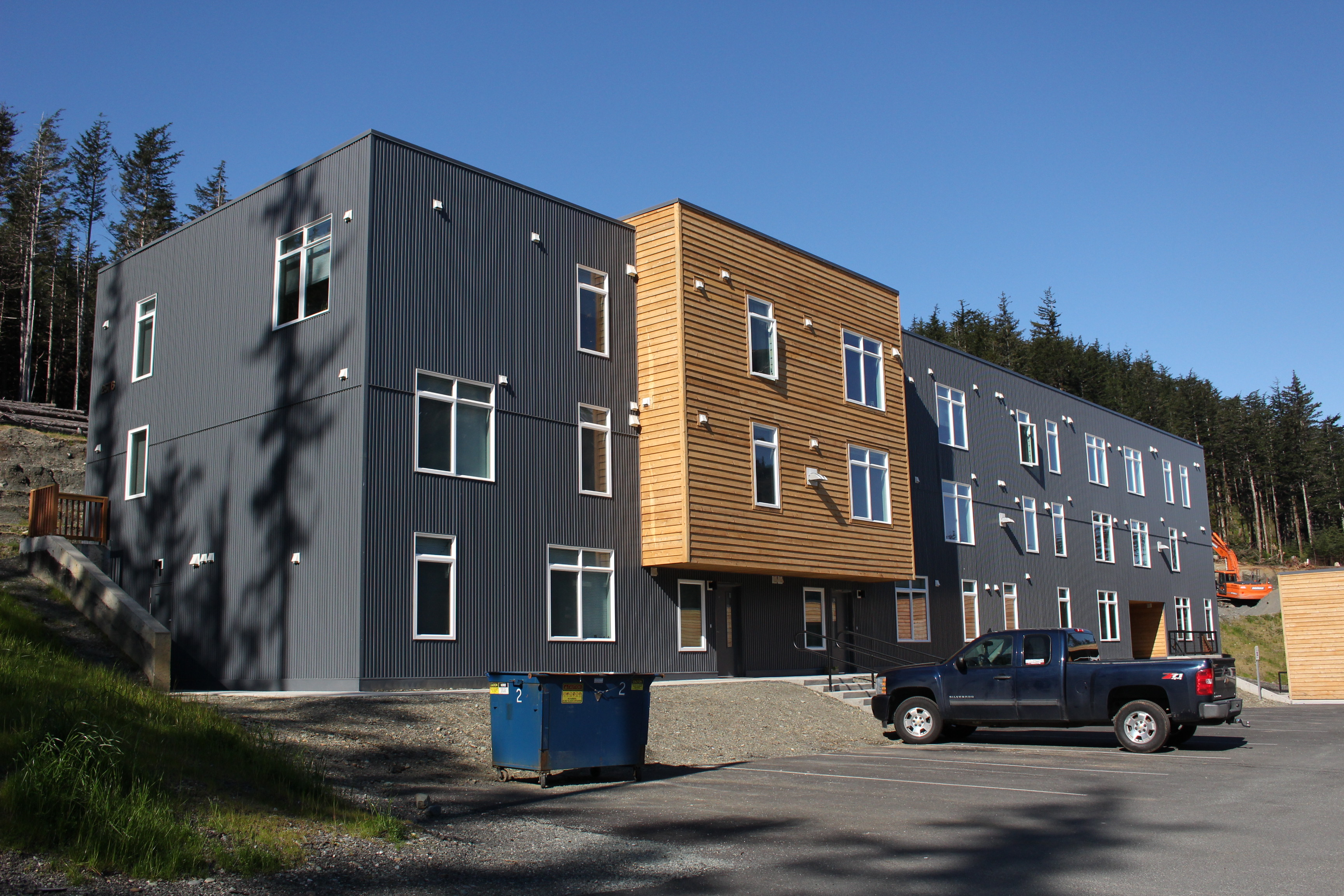 The Terraces at Lawson Creek are a recently completed affordable housing complex on Douglas. (Photo by Elizabeth Jenkins/KTOO)