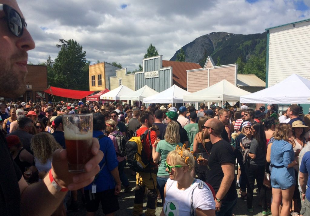 Nearly 2,000 people from all over the state, the Lower 48 and Canada attended the 24th annual Great Alaska Craft Beer and Home Brew Festival over the weekend. (Photo by Jillian Rogers/KHNS)