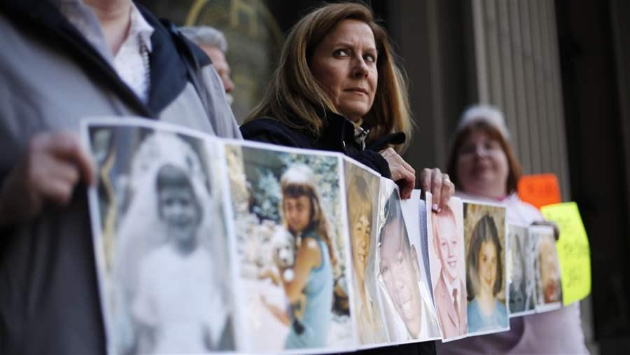 Barbara Blaine and other sexual abuse victims are pushing states to reconsider statutes of limitations on rape and sexual abuse. AP