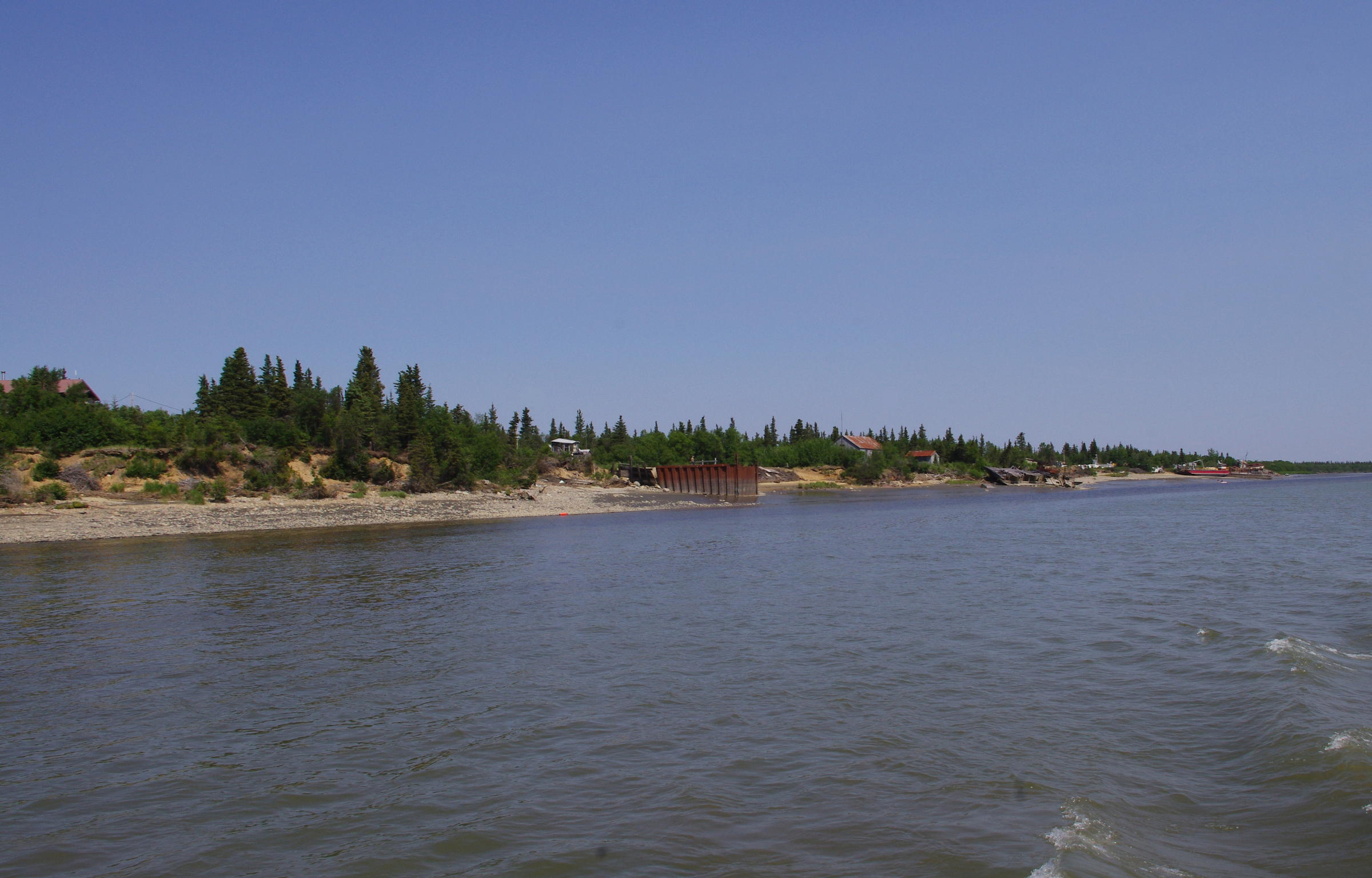 Levelock is shown in this June 2015 photo. The community on the Kvichak River is working to build a fish processing plant, which it hopes will open next year. (Photo by Molly Dischner/KDLG)