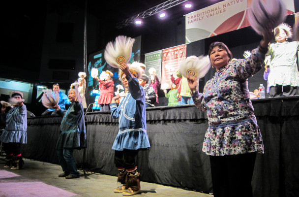 Alaska Native dance at AFN 2013.