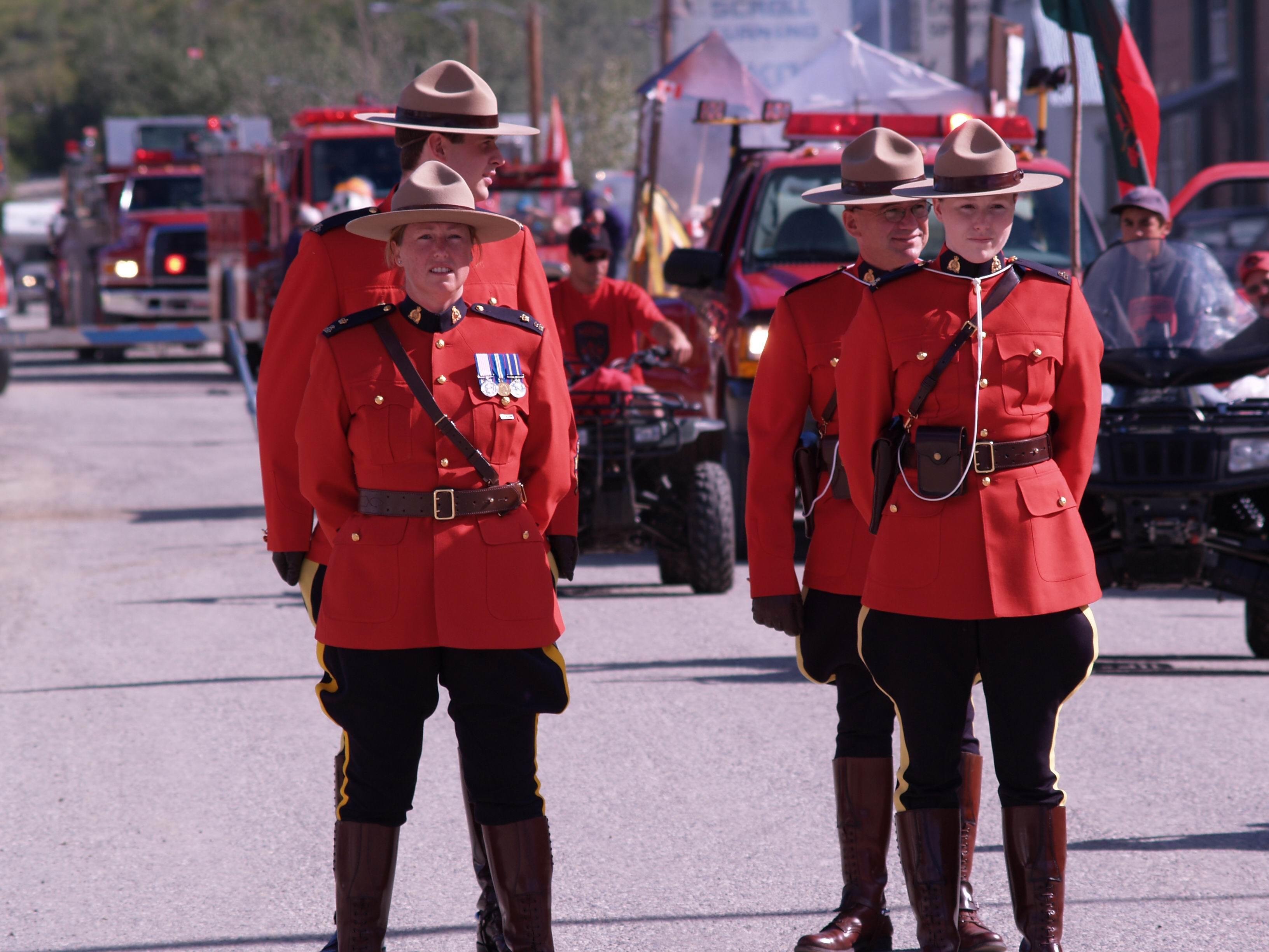 Canada Day dawson city yukon RCMP parade