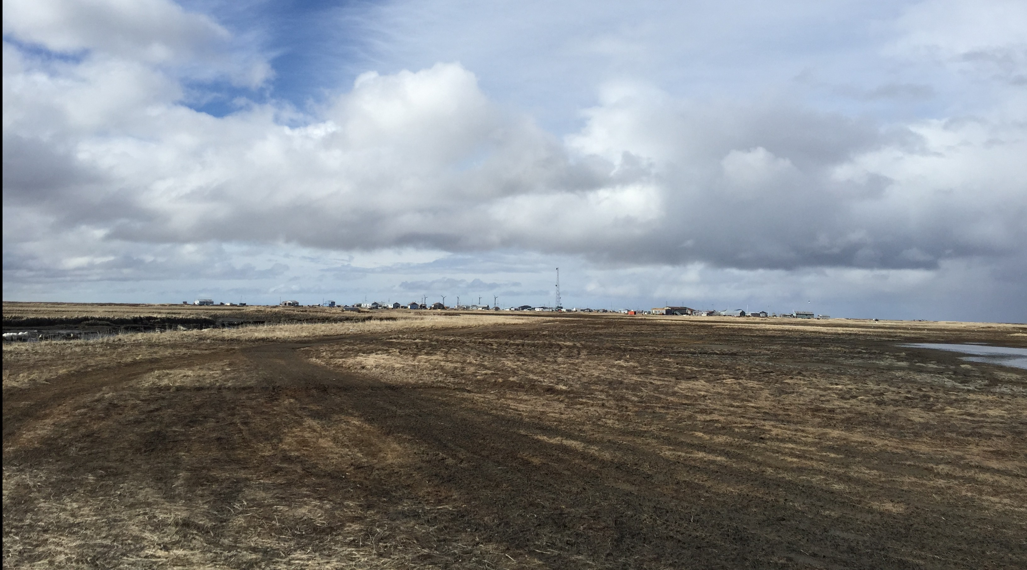 A view of Kwingillingok from near the site of the old school that has been removed. (Photo by Hillman/Alaska Public Media)
