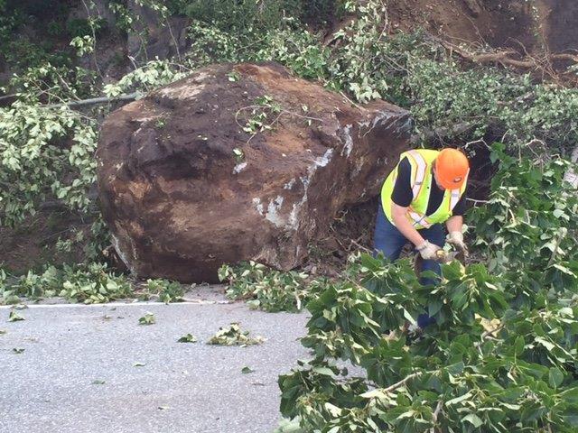 Seward Highway boulder