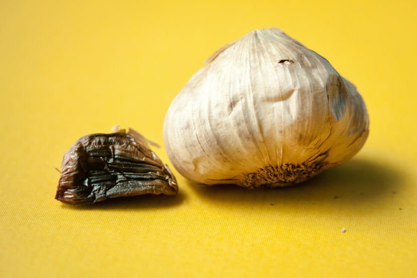 Black garlic: A number of chemical processes transform this humble ingredient during aging. For instance, the garlic picks up caramel notes during browning. Hints of dried fruit come out. And natural microbes on the garlic bulb can ferment, creating more distinct flavors. Morgan McCloy/NPR