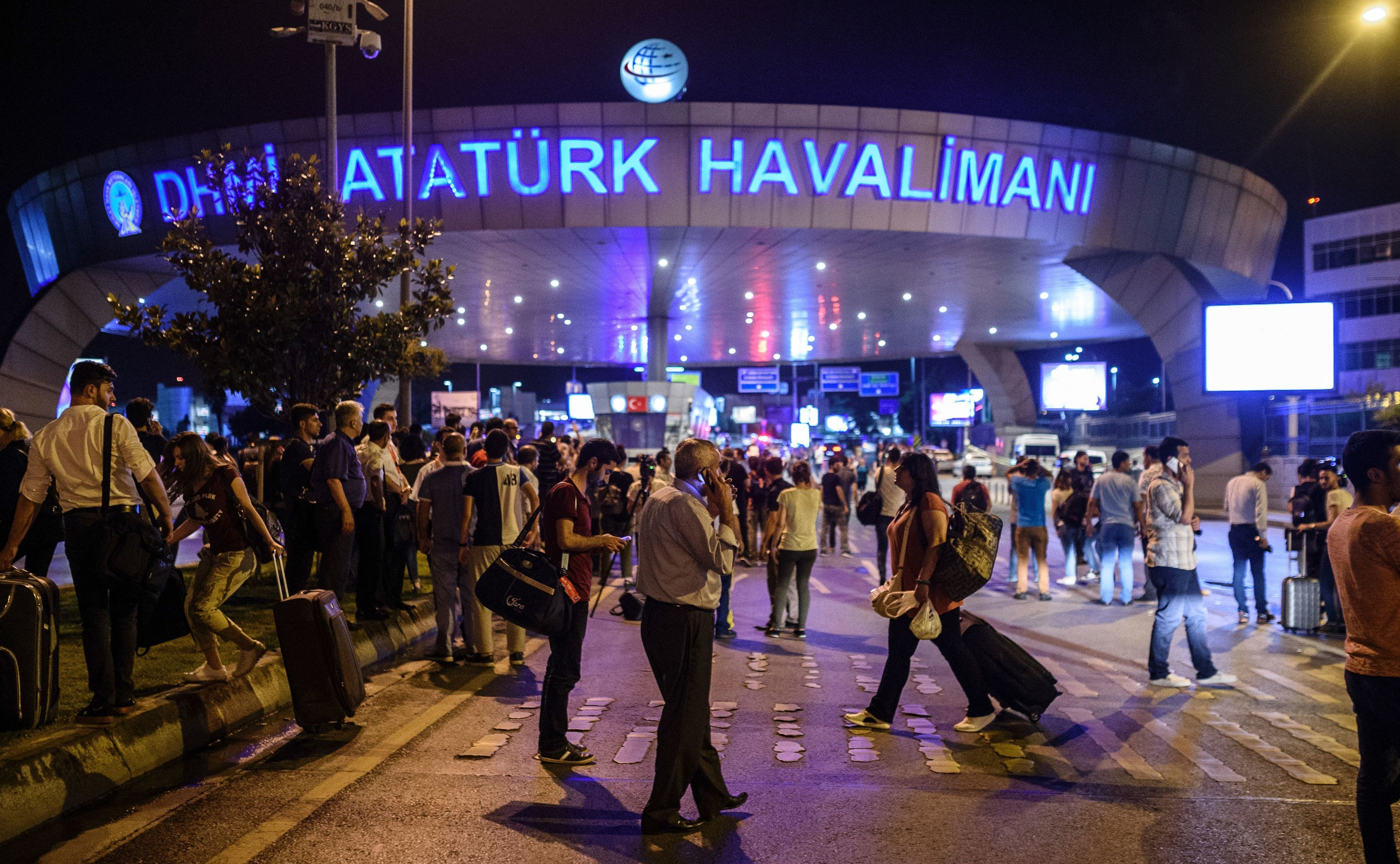 Dozens are injured after at least one explosion and gunfire at the Ataturk airport in Istanbul on Tuesday. Ozan Kose/AFP/Getty Images