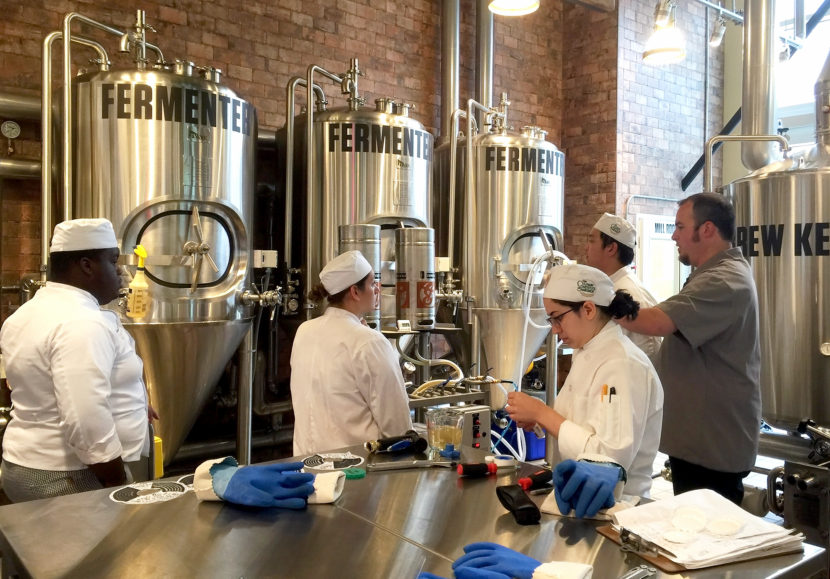 The new brewery at Culinary Institute of America in Hyde Park, N.Y. The school now teaches the art and science of brewing, an elective course. Allison Aubrey/NPR