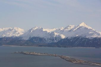 The Homer Spit on Kachemak Bay.