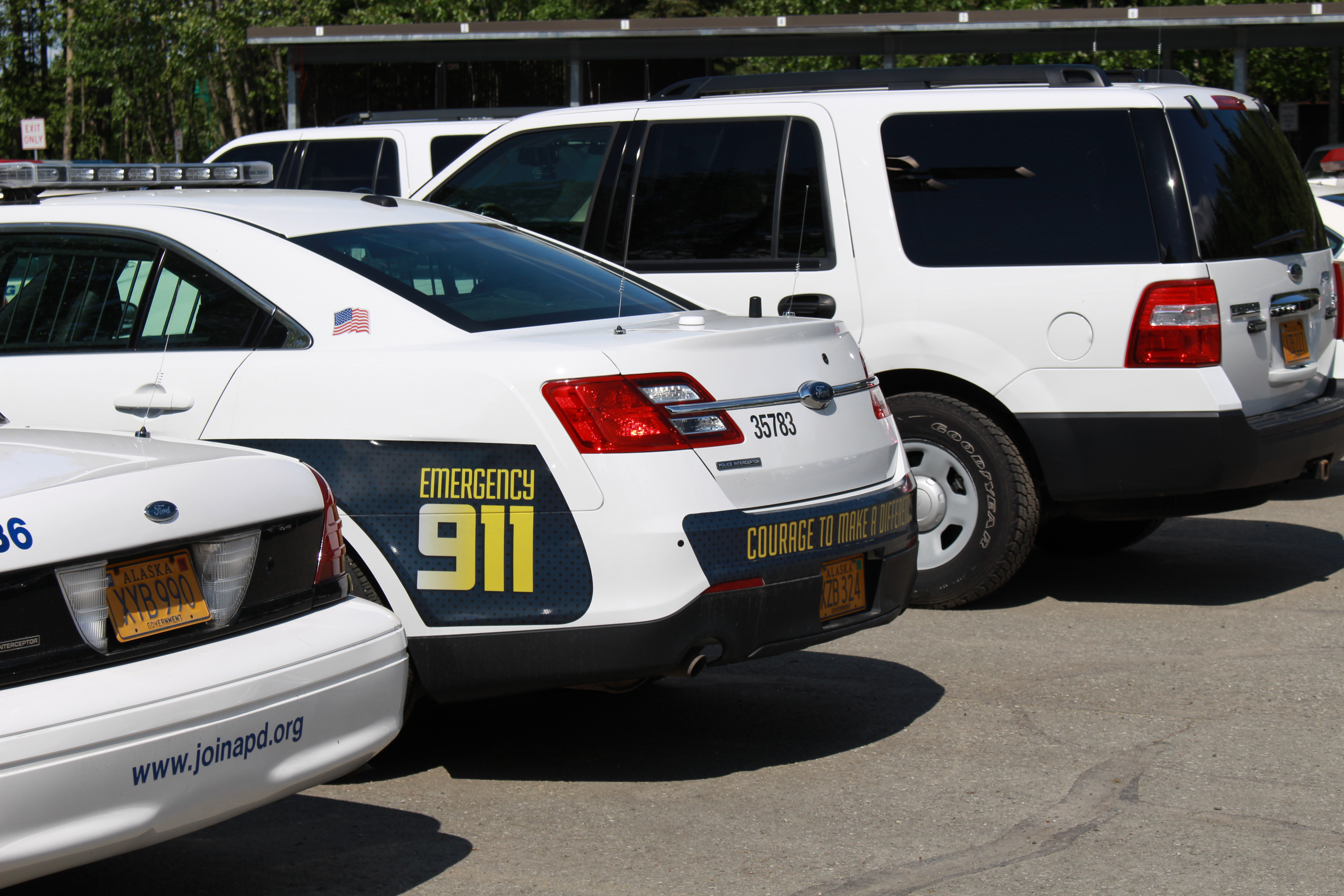 Anchborage Police squad cars