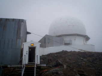 The Romanzof radar site was built in the early 1950s. (Photo by Zachariah Hughes/Alaska Public Media)