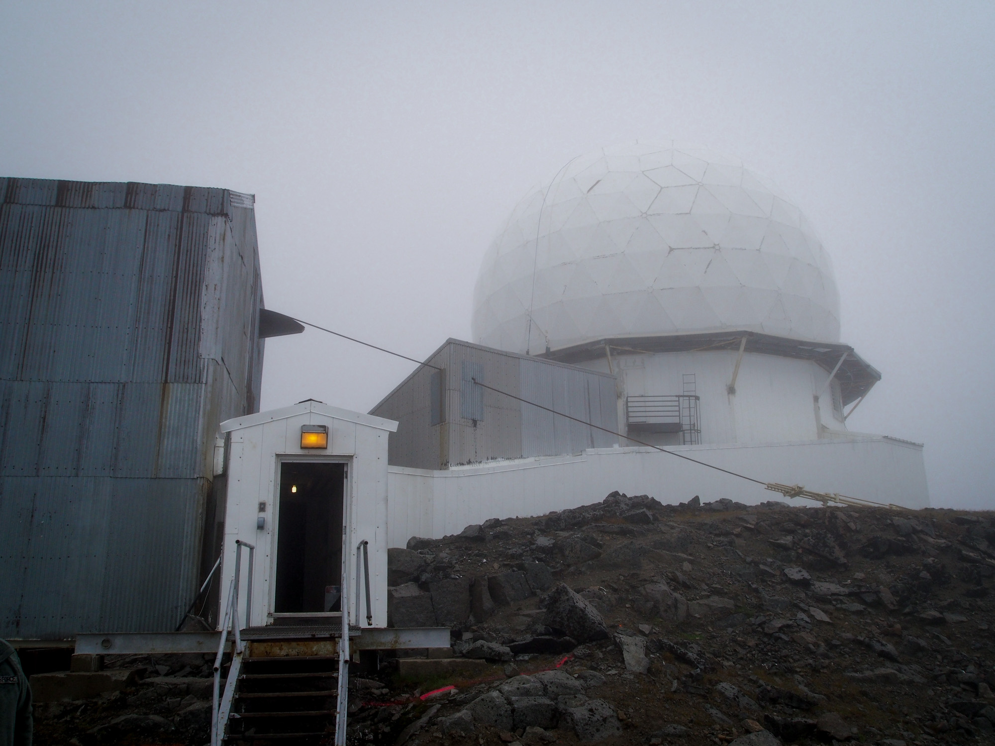 The Romanzof radar site was built in the early 1950s. (Photo by Zachariah Hughes/Alaska Public Media)