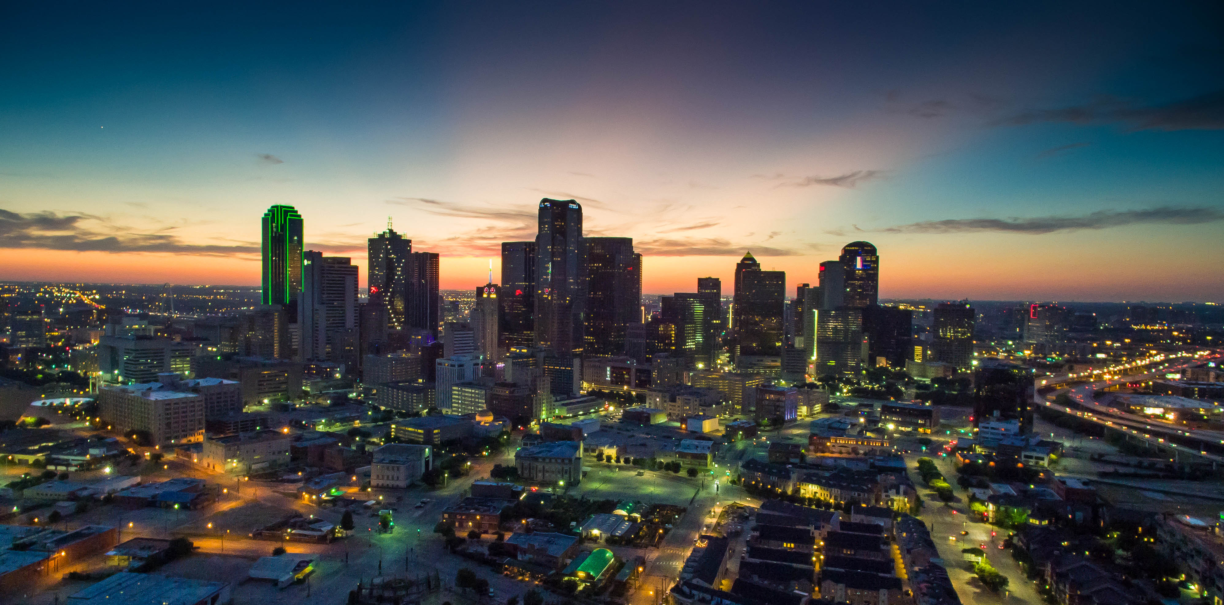 The Dallas skyline from the east in July 2015. (Creative Commons photo by Daxis)