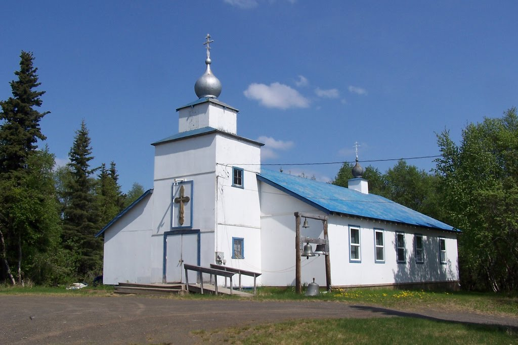 St. Seraphim of Sarov Church is Dillingham's Orthodox church. (Photo by J. Stephen Conn/Panaramio Creative Commons)
