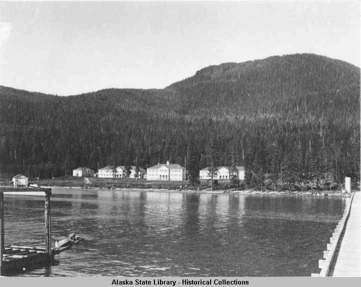 An undated photo of the Wrangell Institute school from a collection spanning 1898 to approximately 1946. (Photo courtesy Alaska State Library Historical Collections)