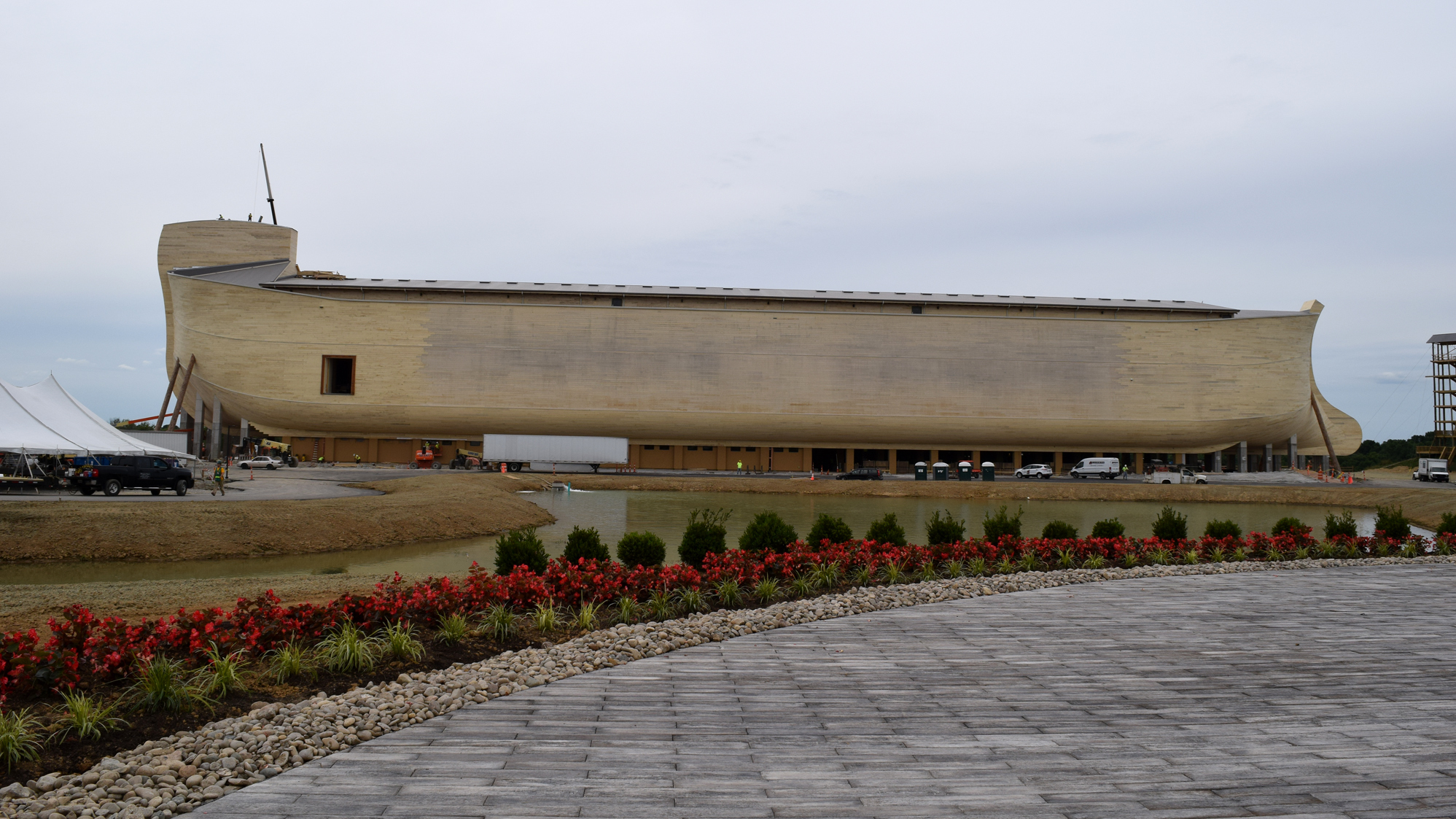 The Ark Encounter is slated to open in Williamstown, Ky., on Thursday, July 7, a nod to Genesis 7:7, which tells the story of Noah and his family entering the ark. (Photo by Ashley Westerman/NPR)