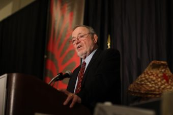 Rep. Don Young, R-Alaska, speaks to the National Congress of American Indians in March 2014. (Photo courtesy Office of Rep. Don Young)