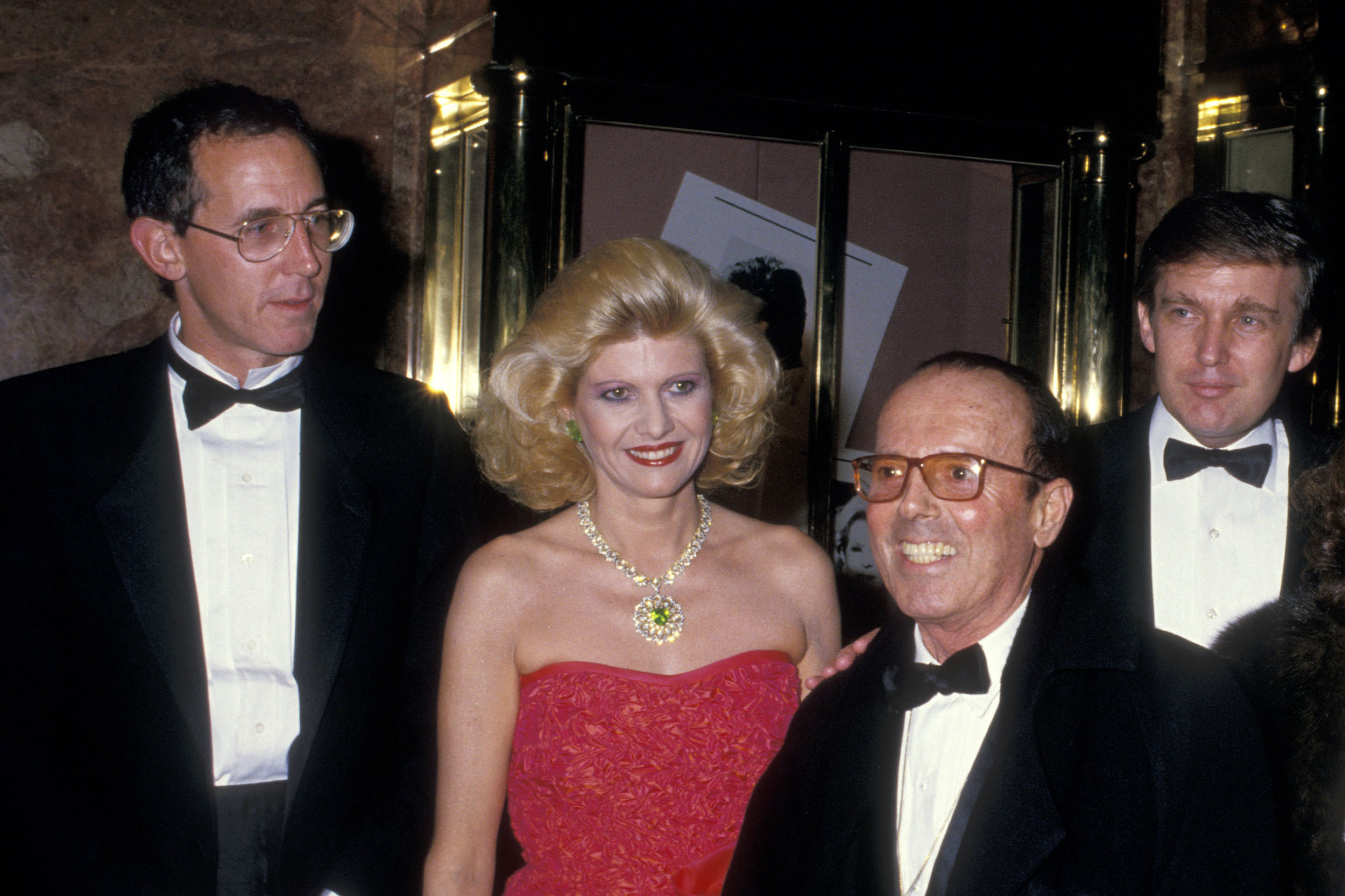 Tony Schwartz (from left), Ivana Trump, photographer Francesco Scavullo and Donald Trump celebrate the publication of Donald Trump's 1987 book, The Art of the Deal, which was ghostwritten by Schwartz. (Photo by Ron Galella/WireImage/Getty Images)