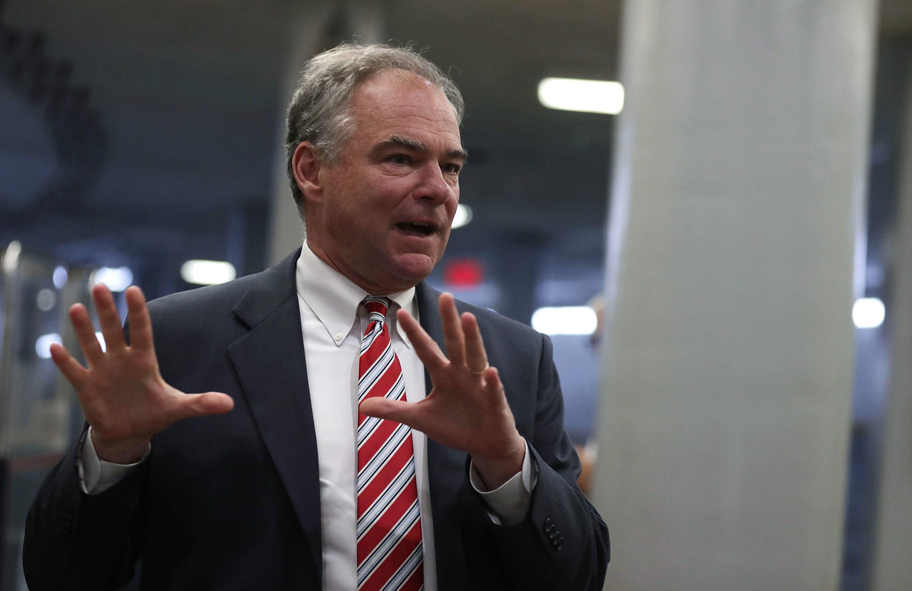 On Friday, Hillary Clinton chose Sen. Tim Kaine of Virginia to be her running mate. (Photo by Alex Wong/Getty Images)