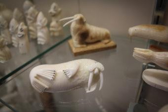 ivory walrus at Maruskiya's