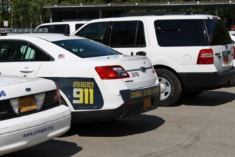 APD police vehicles (Photo by Wesley Early, Alaska Public Media – Anchorage)