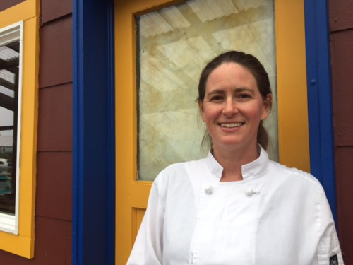 Chef Colette Nelson is the owner and executive chef of the Mediterranean-inspired restaurant Ludvig's Bistro in Sitka. On Saturday (08-06-16), she'll compete in a national seafood cook-off in New Orleans. (Emily Kwong, KCAW, Sitka)