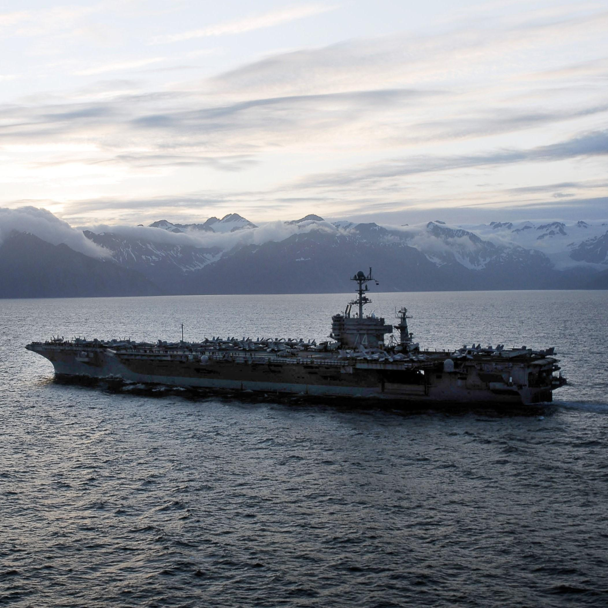 Northern Edge military training exercise in the Gulf of Alaska. (U.S. Navy)