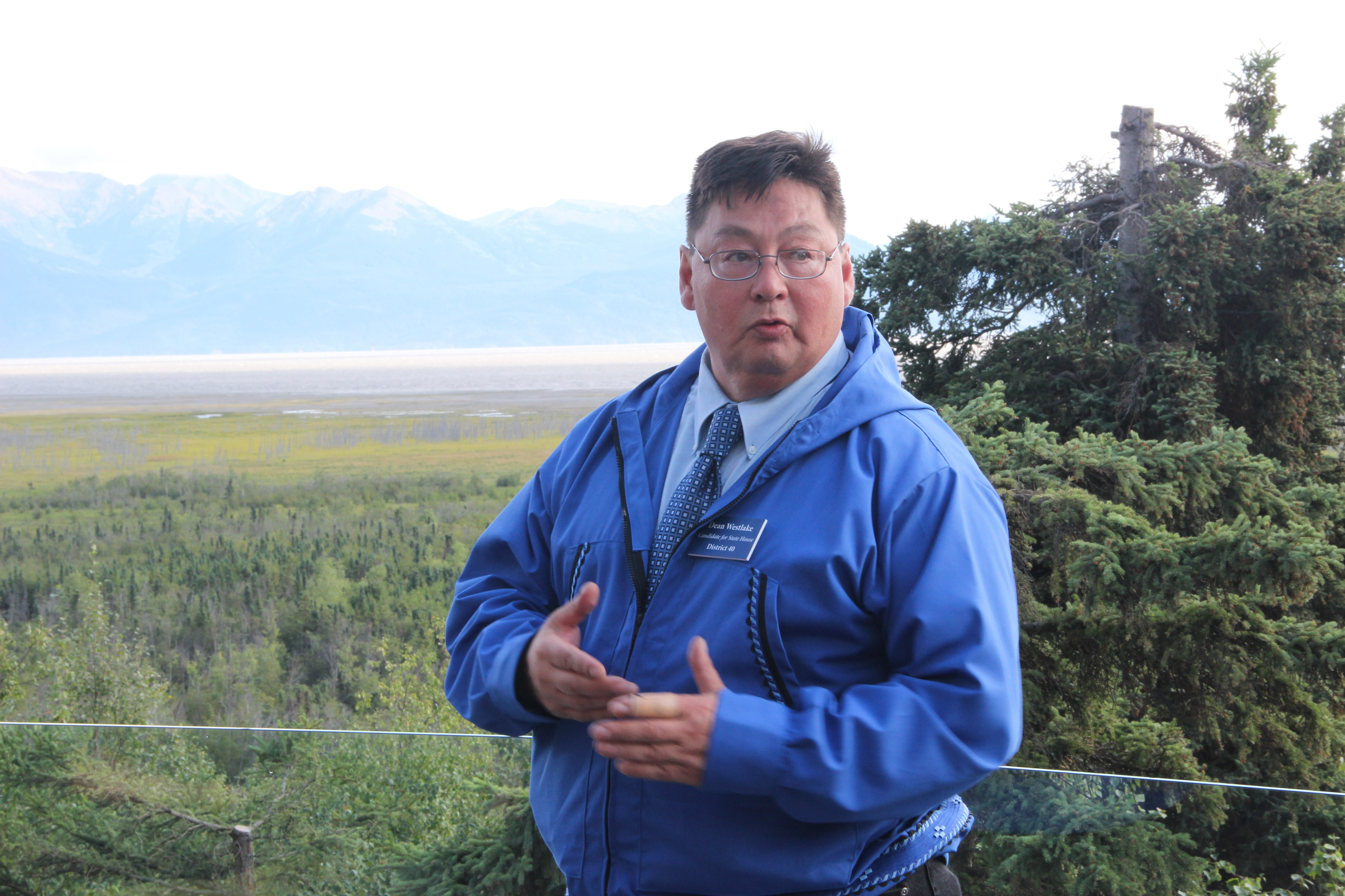Dean Westlake is challenging Barrow Rep. Benjamin Nageak in the Democratic primary. In 2014, Westlake lost the race by 131 votes. (Photo by Rachel Waldholz/Alaska's Energy Desk)