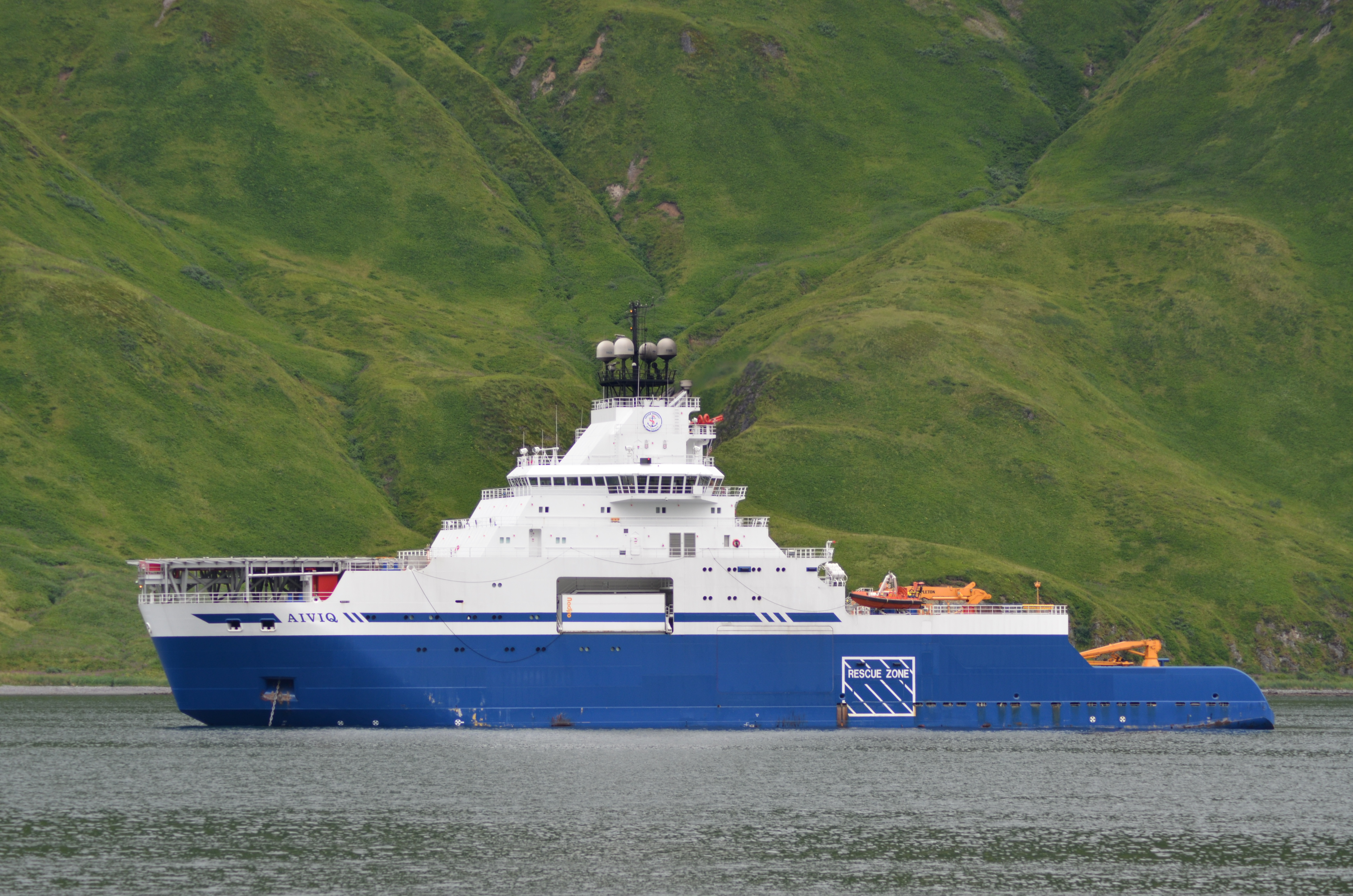 The Aiviq in Unalaska. Photo: Sarah Hansen/KUCB