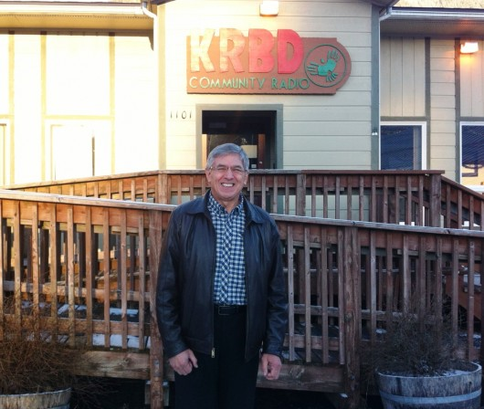 Lt. Gov. Byron Mallott visited the Unuk River to brainstorm ideas to better protect Alaska waters from upriver Canadian mines. (KRBD file photo)