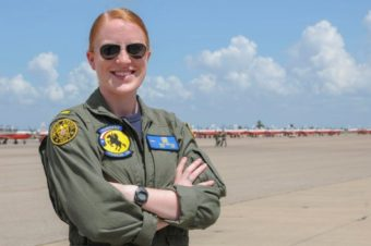 "Ketchikan native Mari Freitag is participating in a Navy pilot training program with the ""Rangers"" Training Squadron in Corpus Christi, Texas. (Contributed photo)"