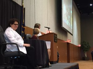 Supreme Court Justice Sonia Sotomayor at the Dena'ina Center in Anchorage. (Photo by Anne Hillman/Alaska Public Media)