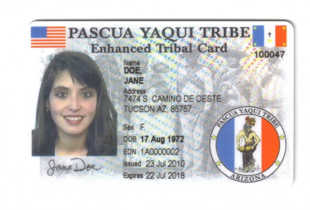 The Pascua Yaqui Tribe was among the first to issues enhanced tribal ID cards. The Tlingit-Haida central Council is now issuing such cards. (Photo by Indian Country Day Media Network)