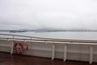 A view of Nome from the deck of the Crystal Serenity. (Photo by Lauren Frost/KNOM)