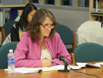 Juneau School District Chief of Staff Kristin Bartlett at the Jul. 9 School Board Meeting.