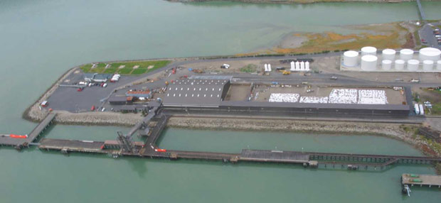 representatives from Alaska Department of Environmental Conservation, Skagway and other organizations met to discuss decades-old lead contamination at Skagway Ore Terminal. (AIDEA photo)