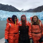 Svea, Vilja and Jillian went on a glacier tour near Petersburg. (Photo courtesy of Bridget Wittstock)