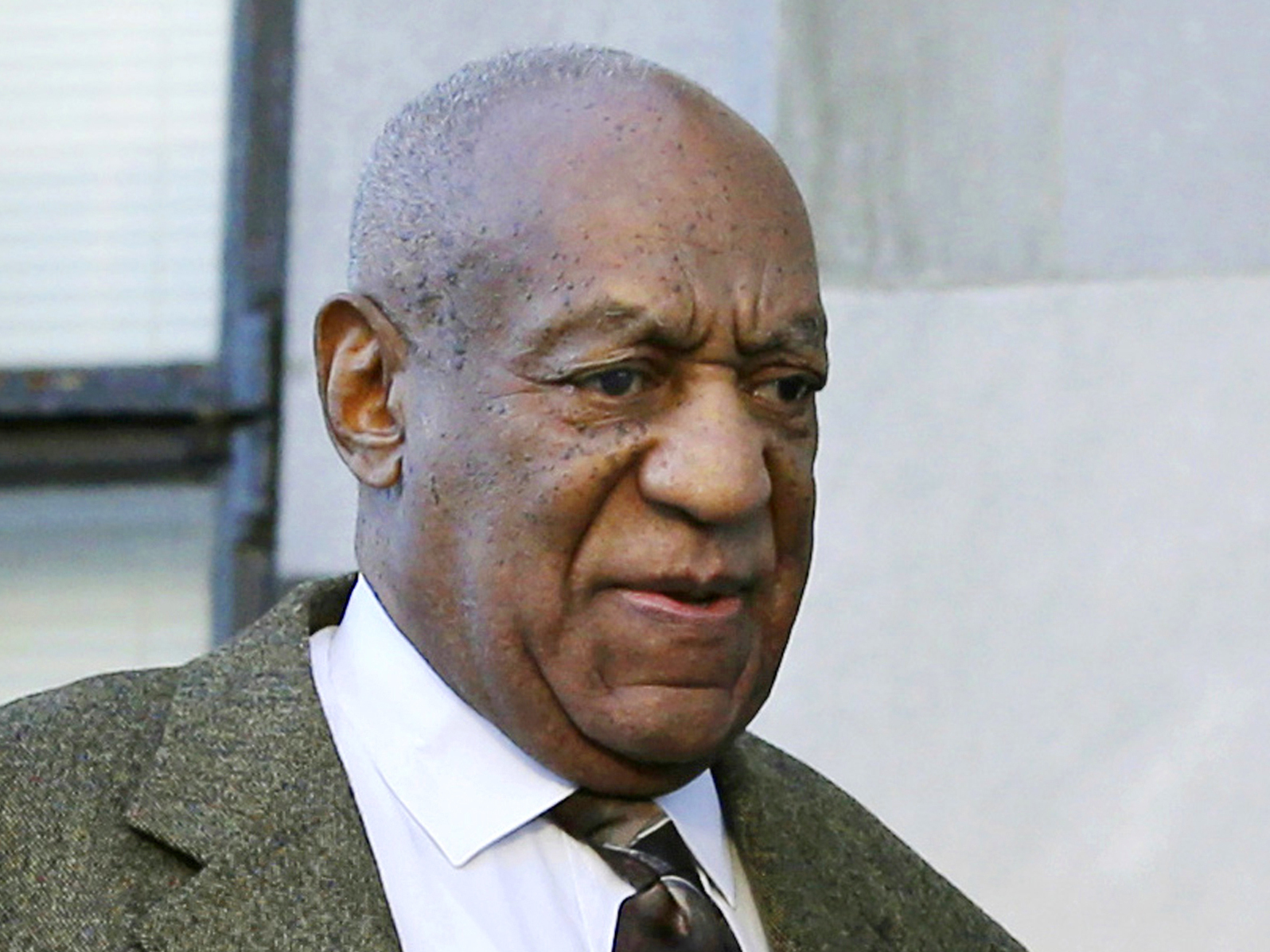 Comedian Bill Cosby outside a Norristown, Pa., courtroom in February. An appeals court has rejected Cosby's effort to reseal his deposition testimony about extramarital affairs, prescription sedatives and payments to women. (Mel Evans, Associated Press)
