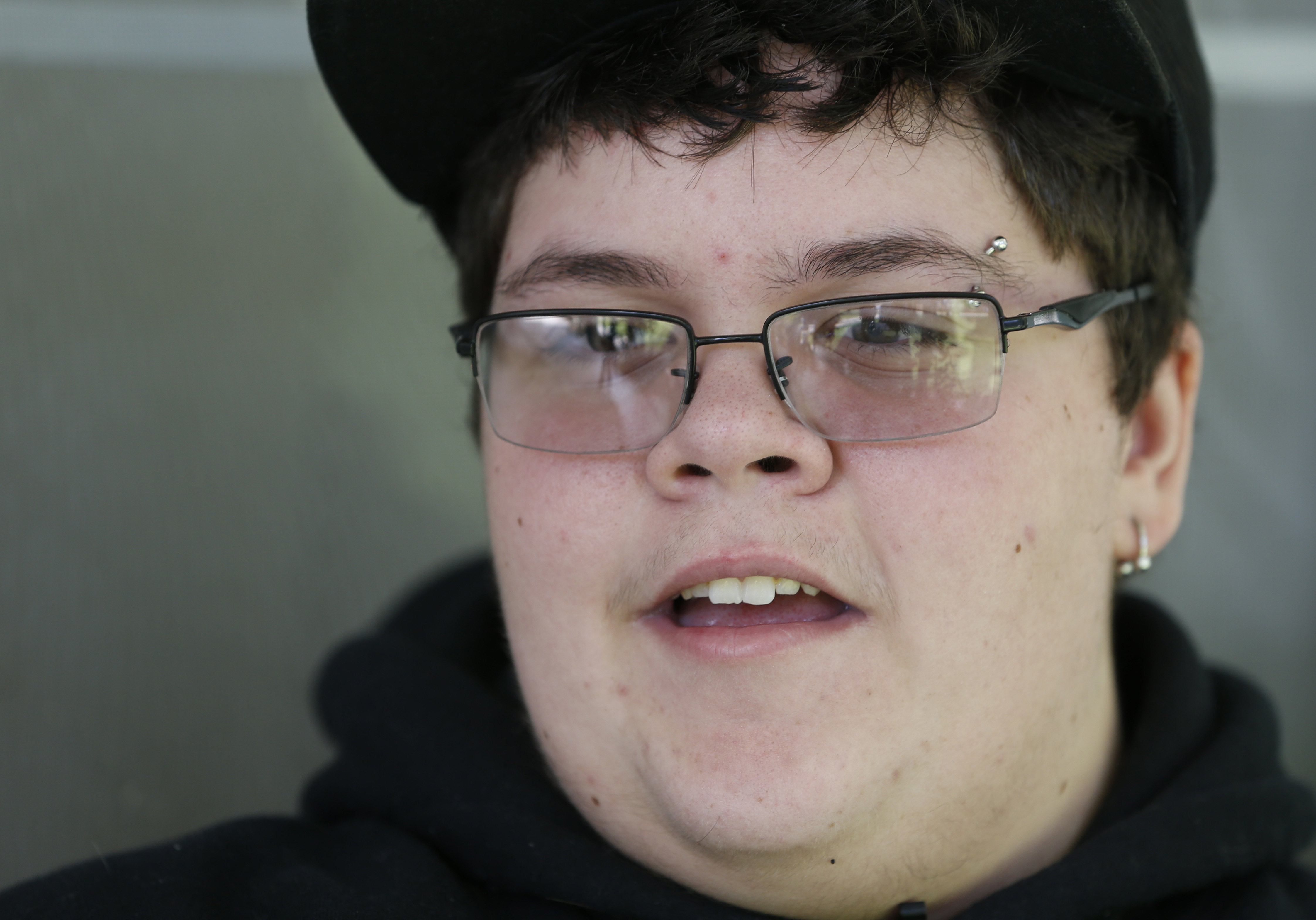 Gavin Grimm speaks during an interview at his home in Gloucester, Va., in 2015. (Steve Helber, Associated Press)