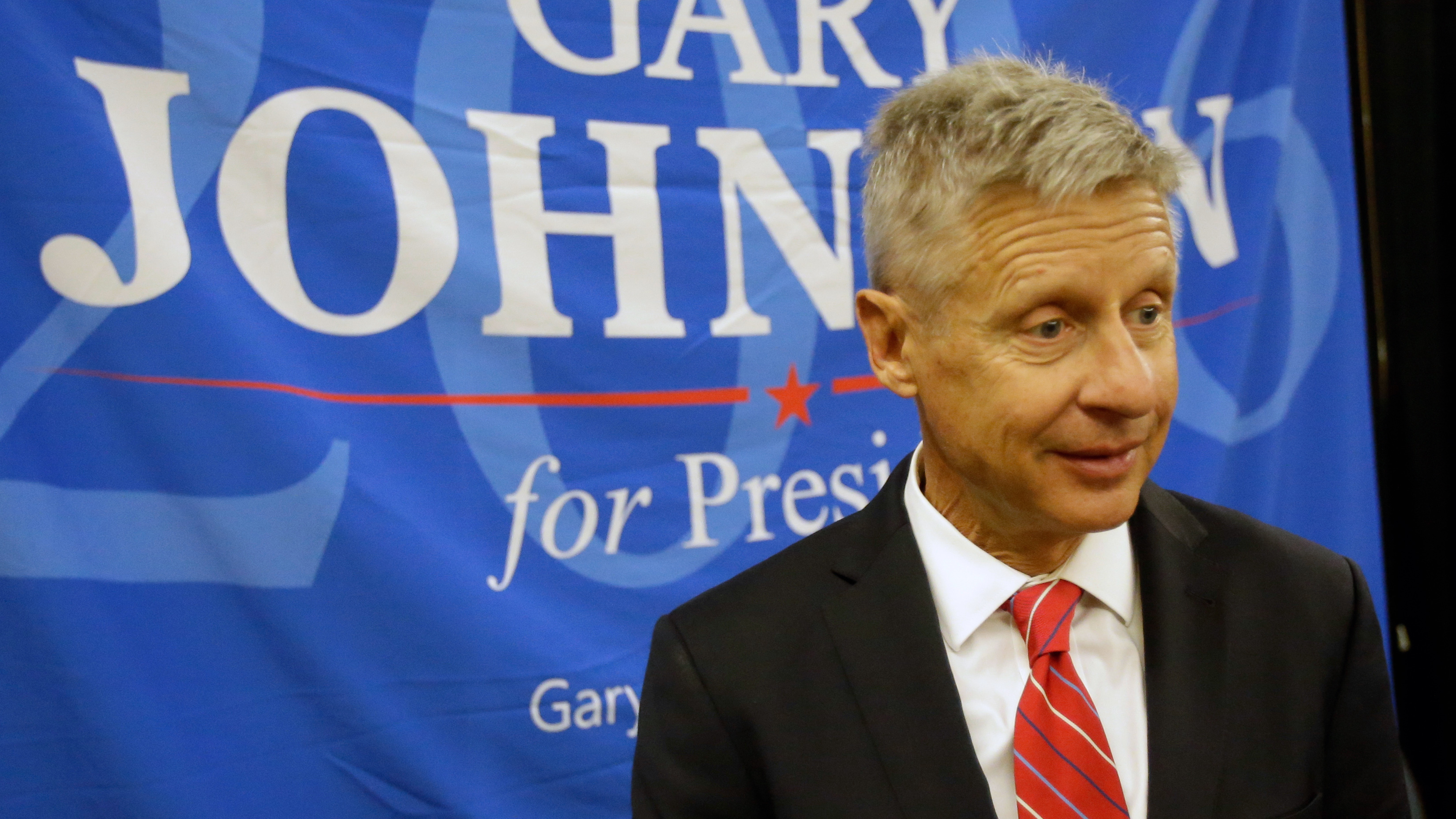 Libertarian presidential candidate Gary Johnson needs to get to 15 percent in polls to make it onto the debate stage this fall. (John Raoux, Associated Press)