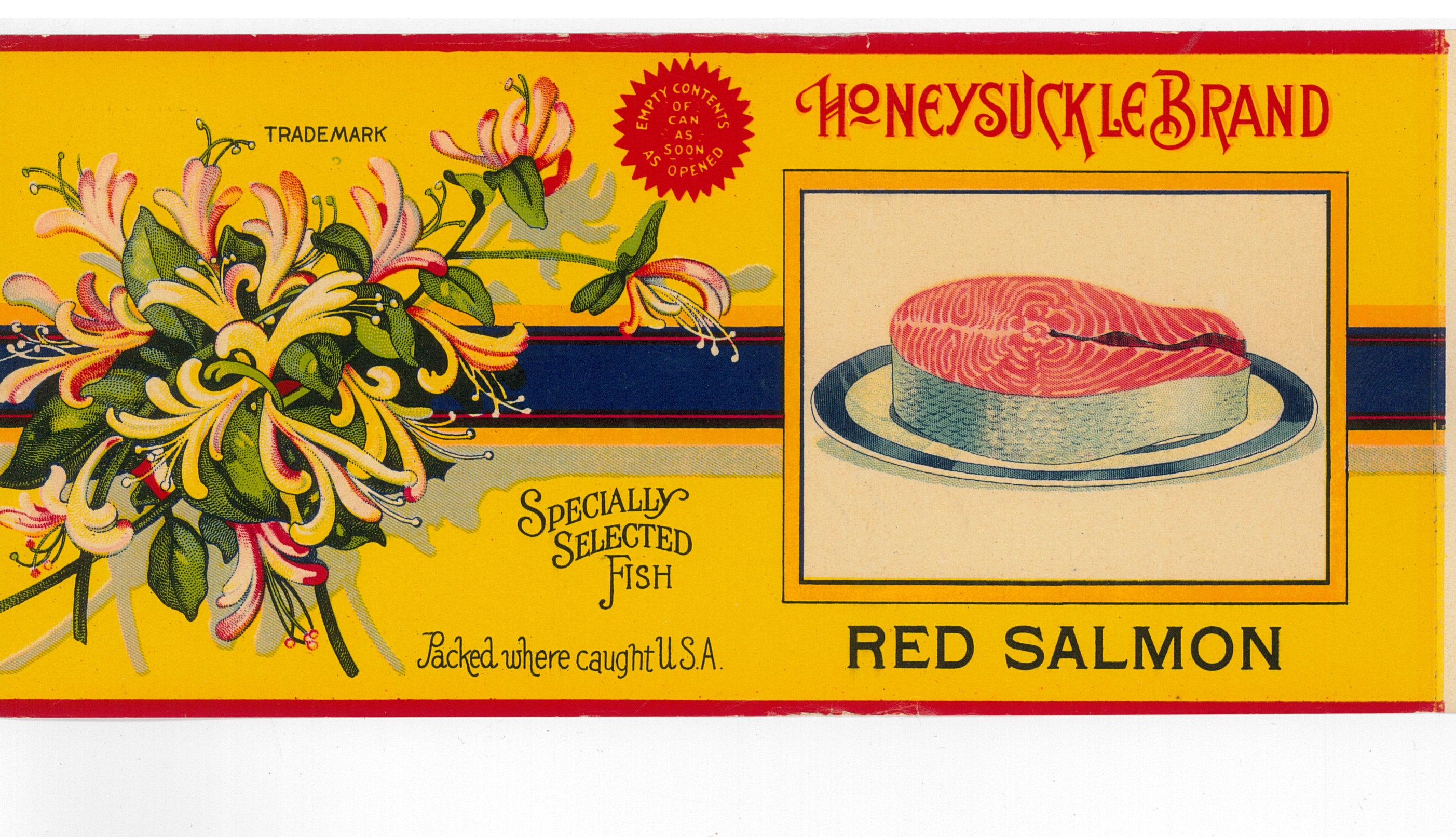 Canned salmon label courtesy of Karen Hofstad